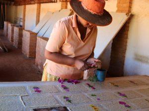 Papierherstellung Papierfabrik Ambalavao Madagaskar