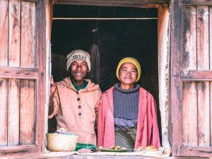 Verkäufer in den Gassen Madagaskars