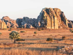 Romantische Kulisse des Isalo Nationalparks bei Madagaskar Roadtrip