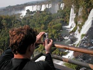 watervallen uitzicht foto