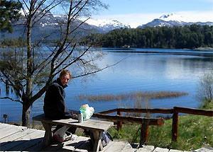 Argentinie klimaat: picknick lago