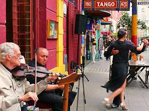 Rondreis Pataganie: straattango Buenos Aires