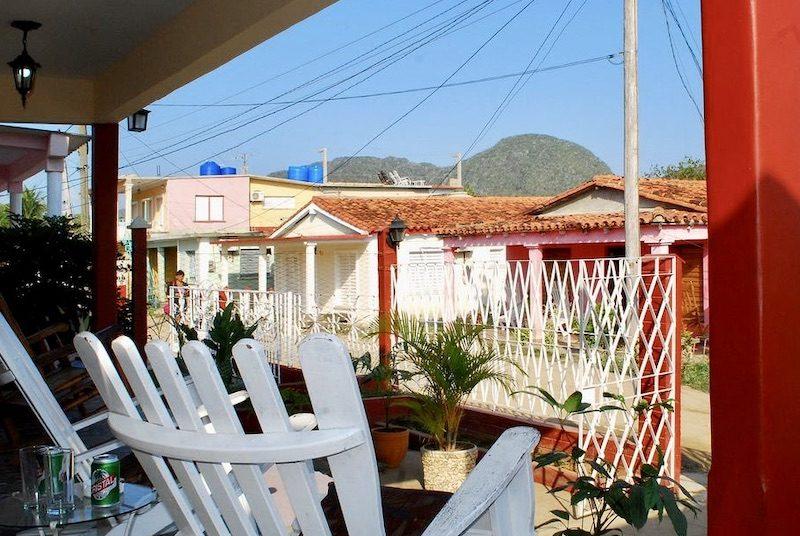Cuba twee weken - casa Viñales, veranda