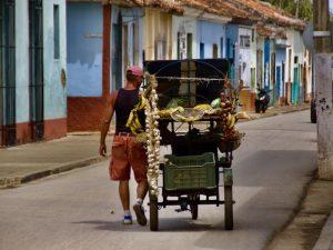 Remedios straatleven - familiereis Cuba