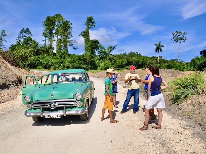 Remedios Oldtimer tour tijdens familiereis Cuba