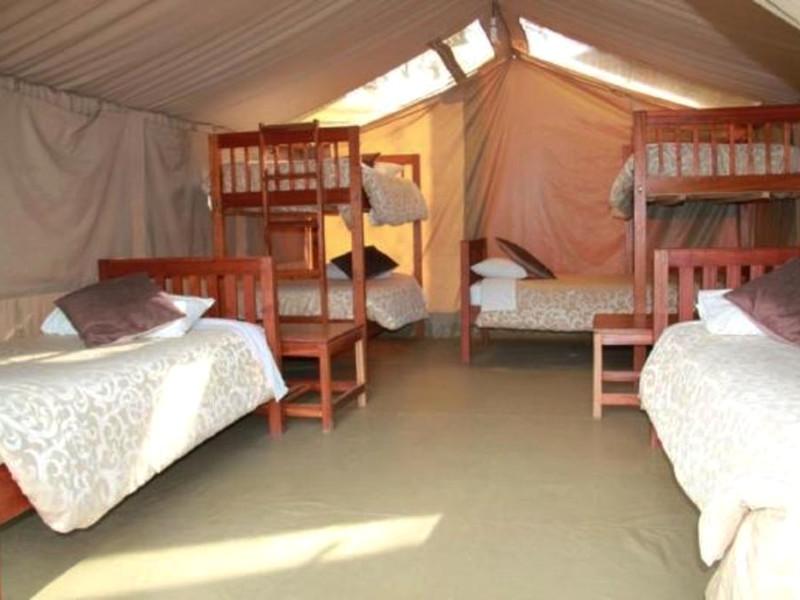 Nairobi eco camp met stijlvolle kamer