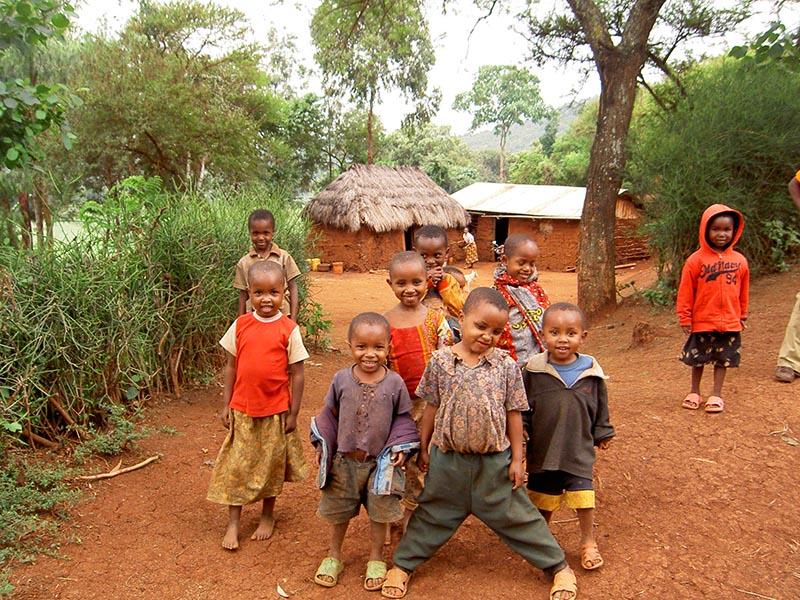 Dorp bij National Park Tanzania reis