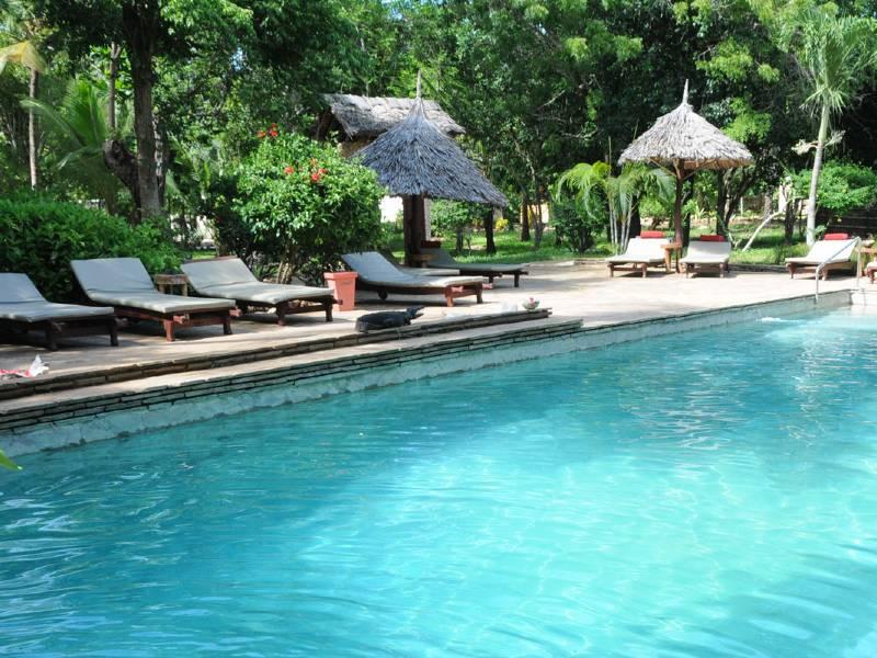 Strand Mombasa - zwembad
