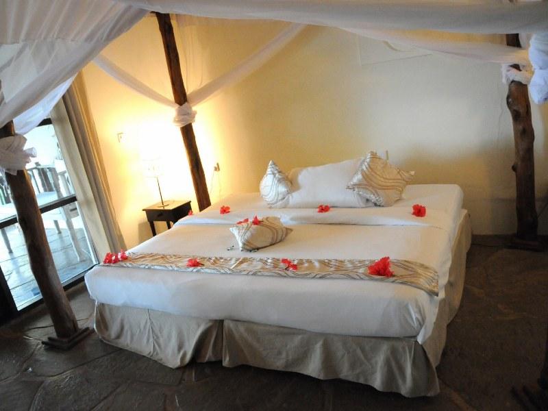 Strand Mombasa - kamer bij kleinschalig Diani Beach resort