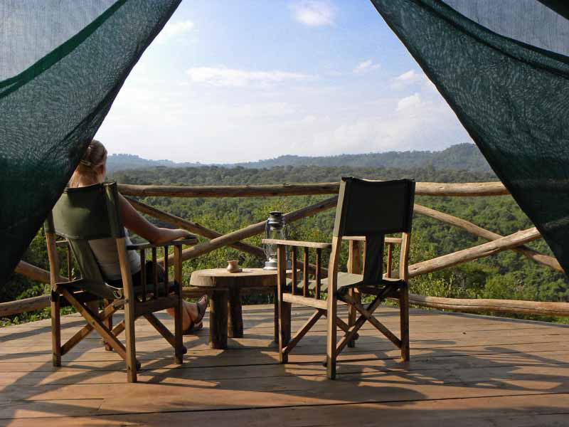 National Park Tanzania - veranda Rhotia Valley