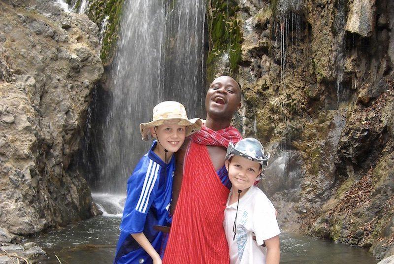 Hoogtepunten Tanzania reis met kinderen - trekking Kilimanjaro waterval