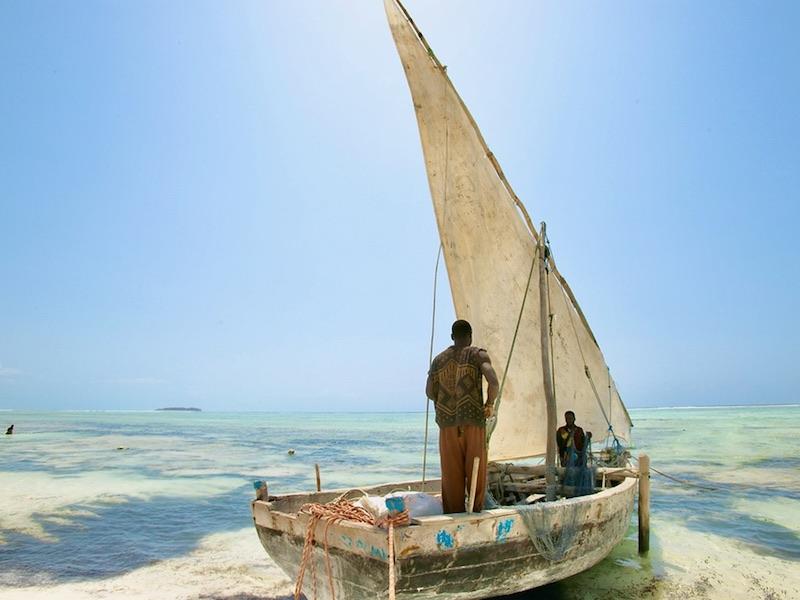 Zanzibar - varen met dhow boot