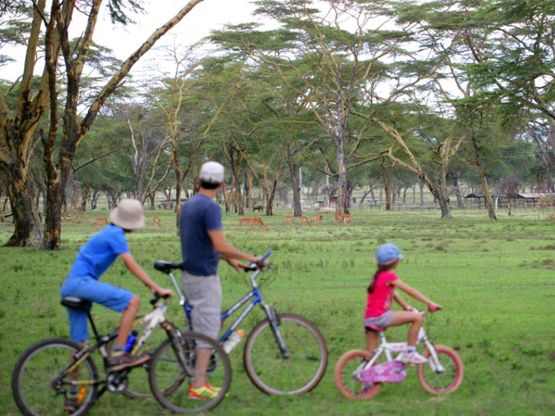 Lake Navaisha fietsen bij boerderij