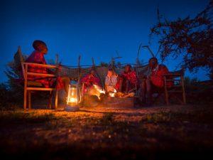 Safari Kenia - kampvuur bij de Masai