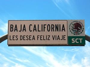 Mexiko-Baja-California-Schild
