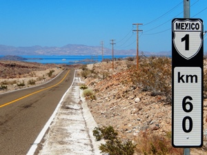 Highway MEX1 in Baja California