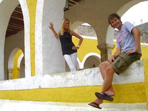 Reisende in Izamal