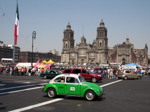 Mexiko Rundreise Taxi