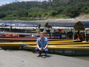 Bootsfahrt auf dem Weg nach Yaxchilan