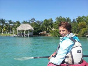 Kajak fahren Lagune Bacalar