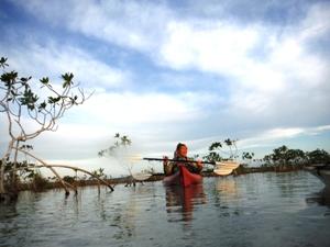Aktiv an der Laguna Bacalar