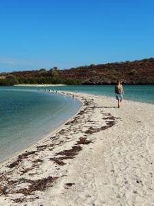 Einsamer Strand der Baja California
