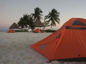 Zelt auf der Insel