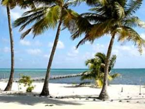 Strand von Caye Caulker