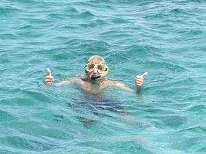 Schnorcheln im karibischen Meer