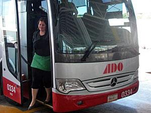 Mädchen im Bus