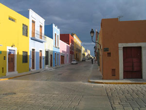 Straße in Campeche