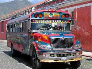 Rundreise Mexiko Guatemala Belize Chicken Bus