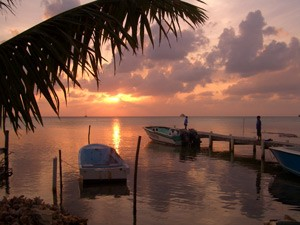 Guatemala Atitlan See Sonnenuntergang