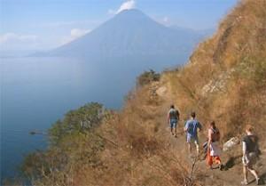 Trekking am Atitlan See