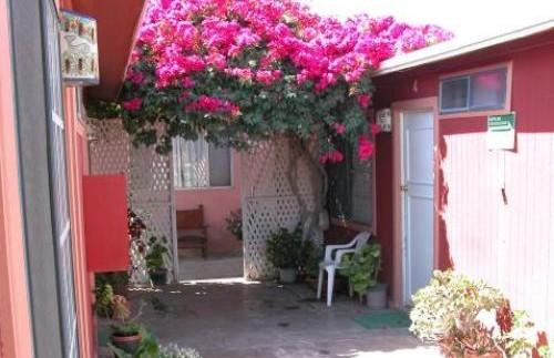Innenhof des Hotels in Guerrero Negro