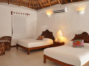 Hotelzimmer in Isla Mujeres bei Mexiko Rundreise