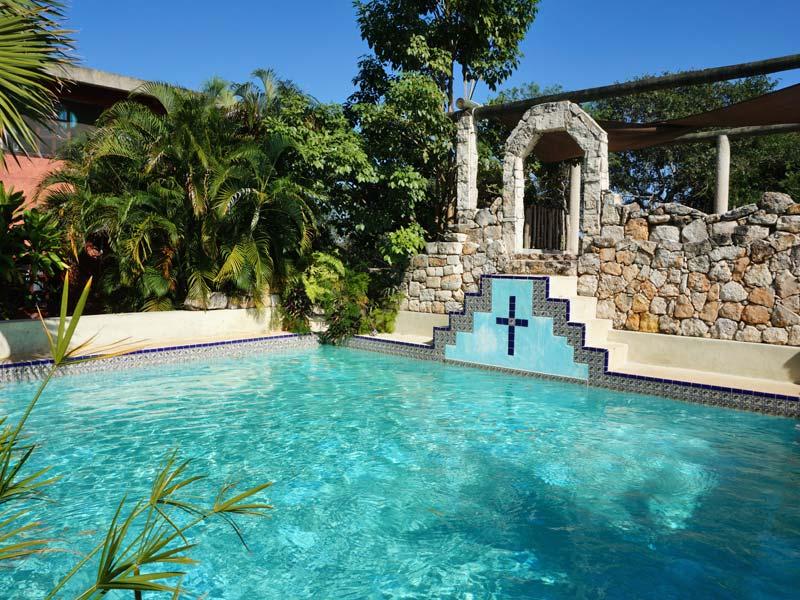 Pool im Komforthotel in Izamal in Mexiko