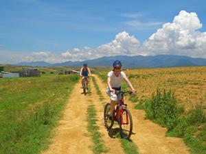 Fahrradfahrer bei Oaxaca