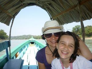 Boot nach Yaxchilan