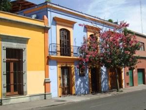 Oaxaca bunte Häuser