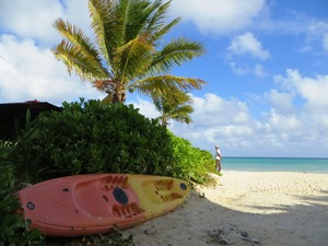 Rundreise Yucatan - Kayak am Strand von Playa