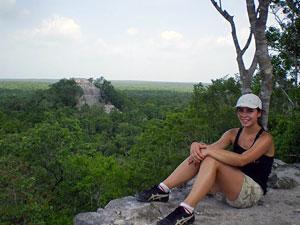 Reisende in Calakmul