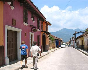 Straße in San Cristobal de las Casas
