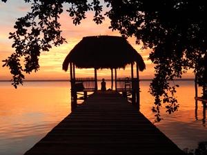 Sonnenaufgang Lagune Bacalar