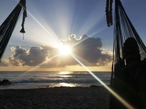 Sonnenaufgang in Tulum.
