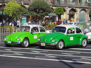 Mexikos grüne Taxis
