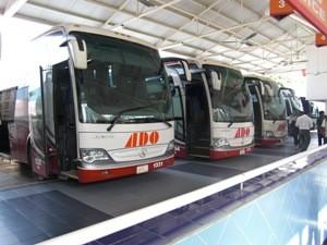 Fahrt mit den Bussen von ADO
