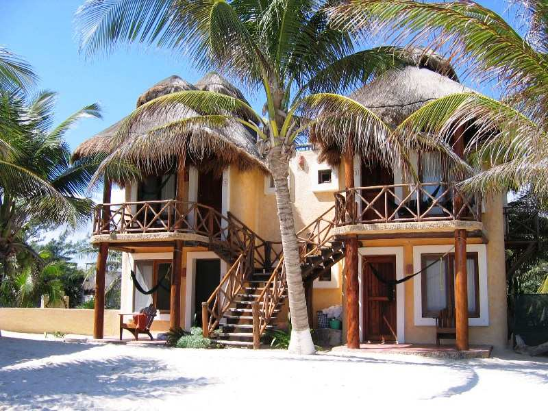 Hotel am Strand in Tulum bei Mexiko Rundreise