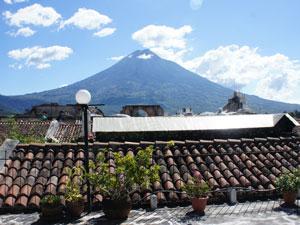 Ausblick von der Dachterrasse des Hotels