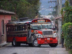 Chicken Bus in Guatemala